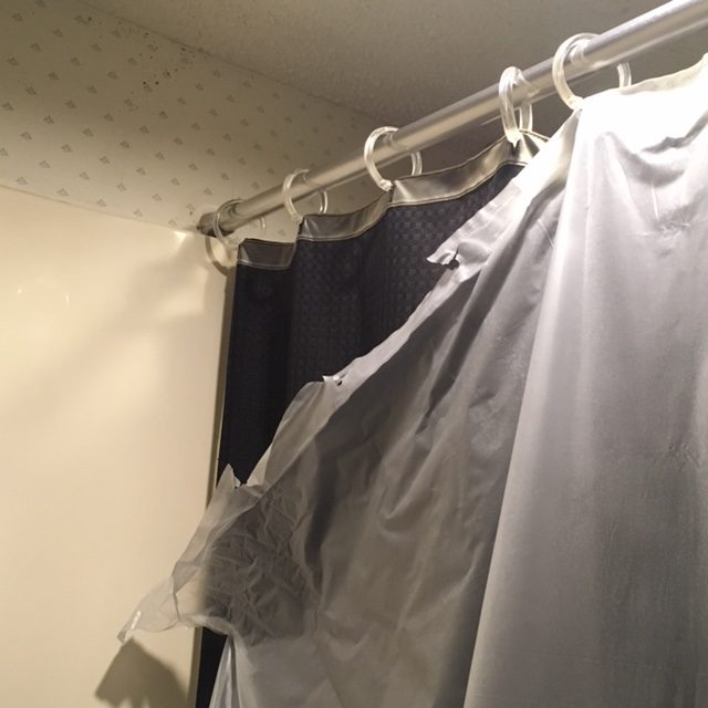 ... Tape And A Hole Puncher And Solved All My Shower Curtain Liner Problems  In Just A Few Minutes. Iu0027m Oddly Proud Of This Quick Fix So I Had To Share!